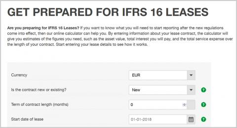 IFRS 16 Leases online calculator
