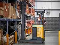 A UniCarriers TERGO® UMS reach truck at Johnson Controls